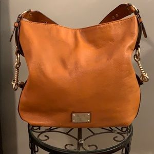 Camel colored leather Michael Korda Bag